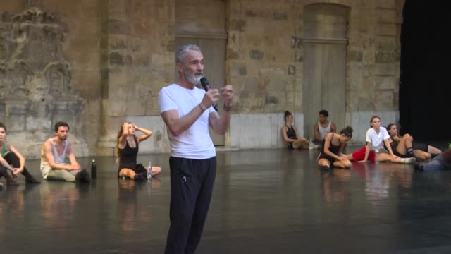 as a way to show that we are still alive the choreographer angelin preljocaj invites an audience in aixenprovence to witness the creative process of... - swan lake stock videos & royalty-free footage