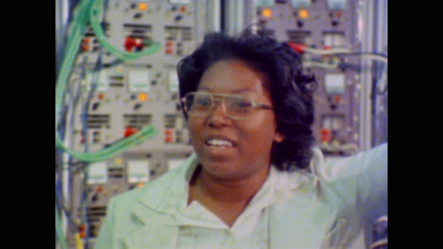 as an electrical engineer working at nasa shirley chevalier shares the excitement of nasa's work as she recalls watching the moon landing as a child - anno 1981 video stock e b–roll