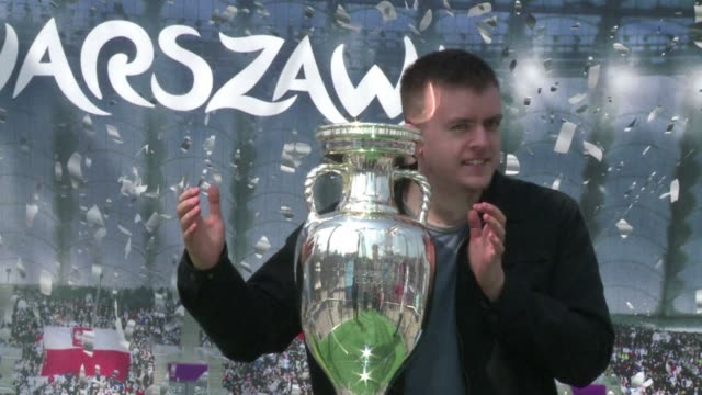 as euro 2012 looms poland fans got a chance on friday to get up close to the tournament trophy though few here expect their team to lift it in the... - final chance stock videos & royalty-free footage