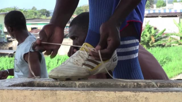 as gabon prepares to cohost the africa cup of nations in early 2012 the spotlight falls on the state of football in the country libreville gabon - international team soccer stock videos & royalty-free footage