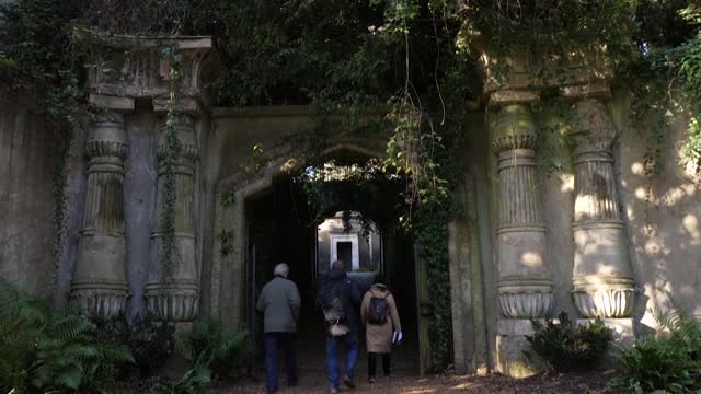 as highgate cemetery experiences more footfall, its custodians launch a bid for architects and landscape designers to submit plans to reshape the... - architect stock videos & royalty-free footage
