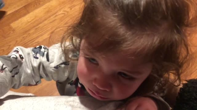 as it gets closer to bedtime, little girl is exhausted and has a meltdown while singing 'old macdonald'. so sad yet so cute! - bedtime stock videos & royalty-free footage