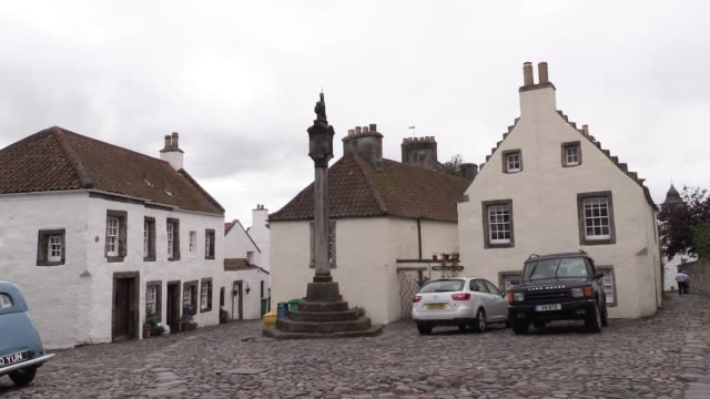 as it is the most complete example of a 16th/17th century village in scotland it is often used for location filming of films and tv programmes... - jack hawkins stock videos and b-roll footage