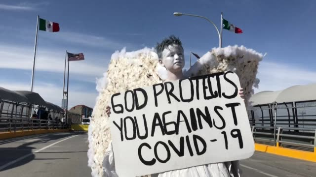 as mexico registers 367 covid-19 cases and suggests citizens stay at home, a small group of evangelical mexicans wearing white body paint and white... - religious dress stock videos & royalty-free footage