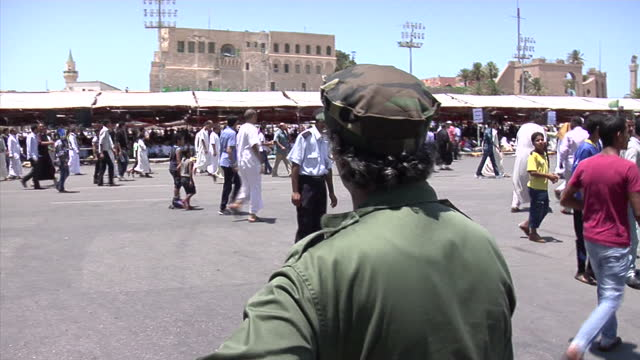 as nato continues its air campaign against libya its people are becoming increasingly frightened both by the threat of bombing colonel gaddafi's... - libya stock videos and b-roll footage