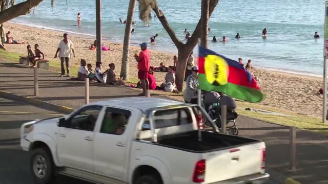 vídeos y material grabado en eventos de stock de as new caledonia counts down to referendum day pro independence activists are out in force in noumea - territorios franceses de ultramar