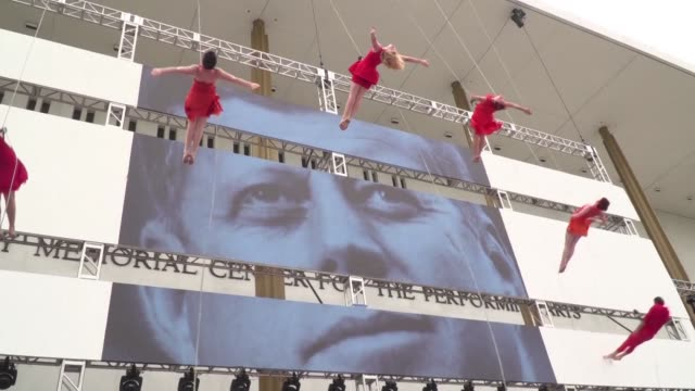 stockvideo's en b-roll-footage met as part of washington's celebrations of what would be john f kennedy's 100th birthday the kennedy center is hosting a series of free performances... - john f. kennedy