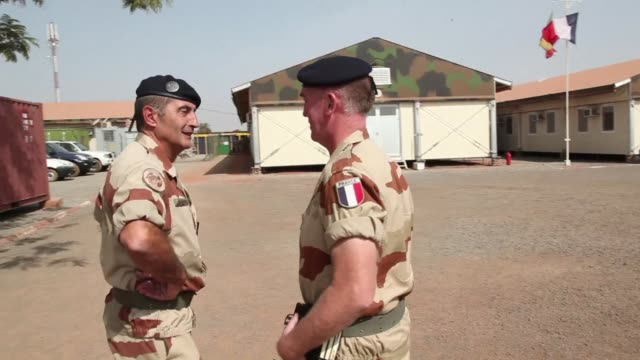 as saturday marks one year since france launched operation serval as part of its intervention in the malian conflict, french deputy general of the... - french army stock videos & royalty-free footage