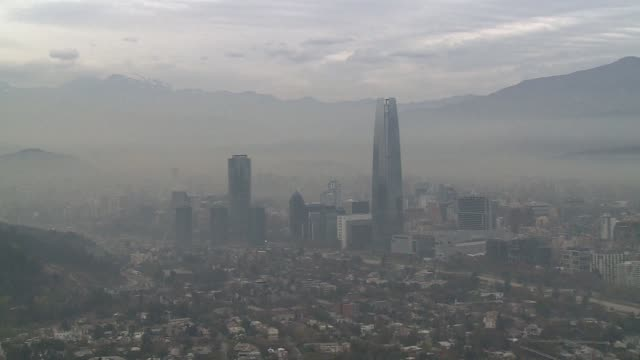 stockvideo's en b-roll-footage met as south americas football heroes jet into chile for the copa america a dark cloud is hanging over two host cities where air pollution alerts are... - zuid amerika