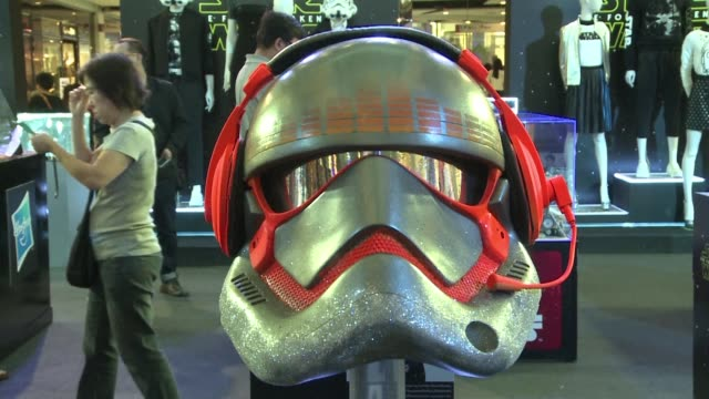 as star wars fever sweeps the world with the release of the latest film in the series an exhibition in bangkok features a collection of stormtrooper... - star wars film series stock videos & royalty-free footage