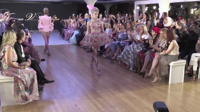 as the abaya witnesses a global resurgence the sixth edition of arab fashion week opens with fallen angels rococo corsets cupcake headbands and nary... - hair accessory stock videos & royalty-free footage