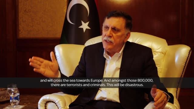 As the battle for Tripoli escalates and threatens to turn into anarchy the man the United Nations recognises as Libya's Prime Minister told Sky News...