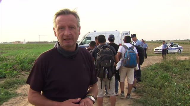 as the border controls in hungary tighten, migrants are looking for other ways to cross into europe. many are re-routing to the south-west of here,... - hungary stock videos & royalty-free footage