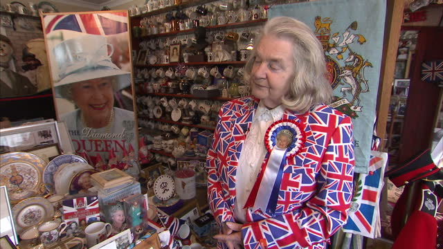 as the country prepares to celebrate the queen's 90th birthday this week nobody is counting down the days with more excitement than britain's royal... - souvenir stock videos and b-roll footage