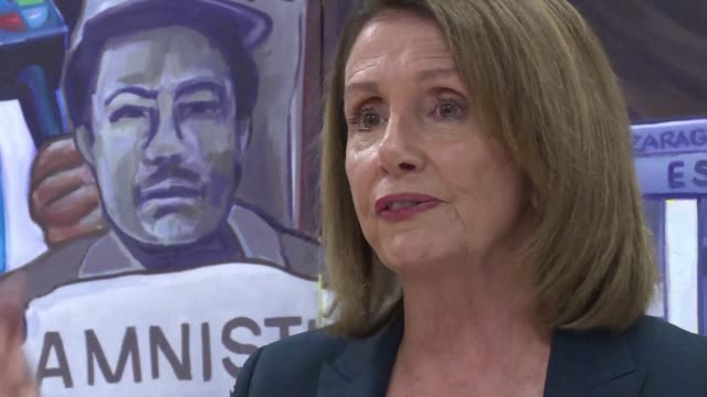 as the democrats in the us try to get a vote on the fate of dreamers in congress house of representatives opposition leader nancy pelosi visits daca... - beneficiary stock videos & royalty-free footage