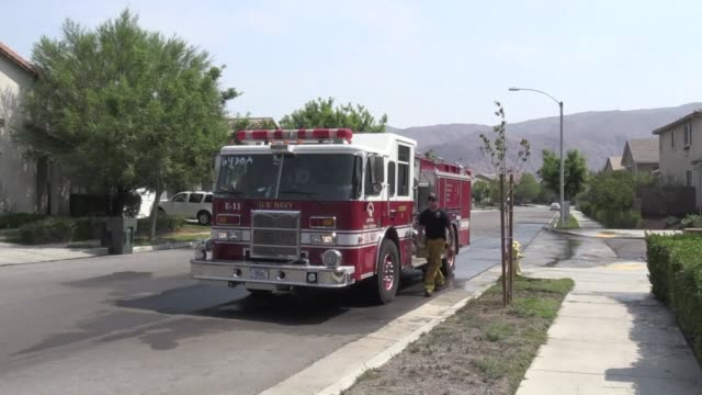 As the Holy Fire south east of Los Angeles is 41 percent contained some residents of the Temescal Canyon valley are allowed to go home as the...