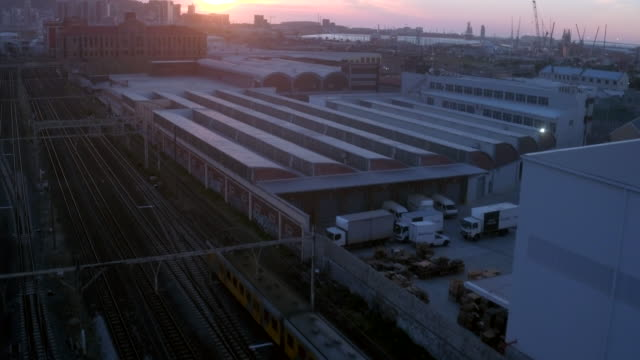 As the sun sets the final train departs