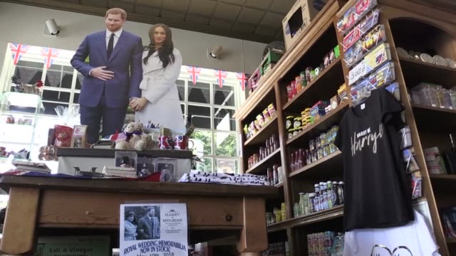 as the wedding of meghan markle and prince harry inches ever closer in the future princess birthplace of california memorabilia is flying off the... - souvenir stock videos and b-roll footage