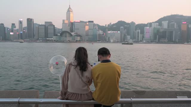 as this year's valentine's day hapened simultaneously with chinese new year festivities, people in hong kong experienced both occasions differently... - public celebratory event stock videos & royalty-free footage