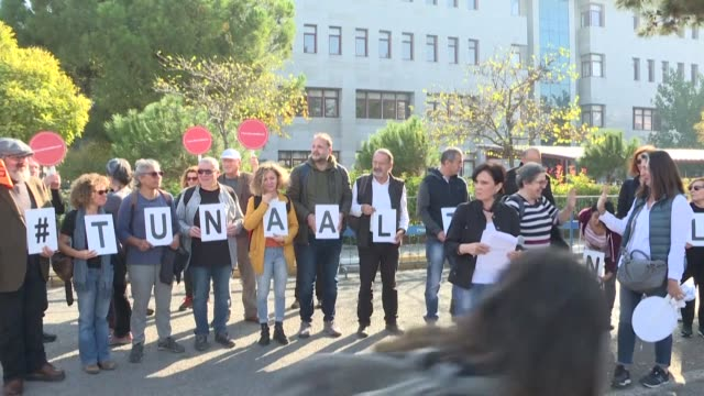 as tuna altinel's trial resumes supporters gather outside the balikesir courthouse and a prosecutor softens the charges against the turkish... - mathematician stock videos & royalty-free footage