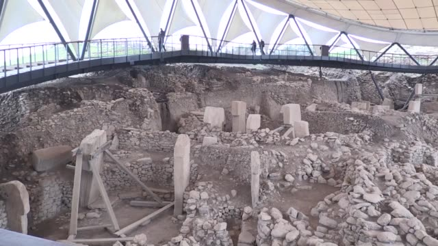 as turkish president declared 2019 the year of gobeklitepe in honor of the 12000yearold temple in southeastern turkey tourism to the world's oldest... - unesco stock videos & royalty-free footage