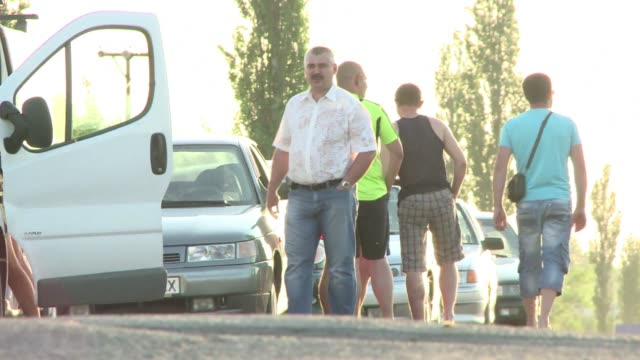 As unrest continues in eastern Ukraine pro Russian fighters are letting refugees cross the border into Russia