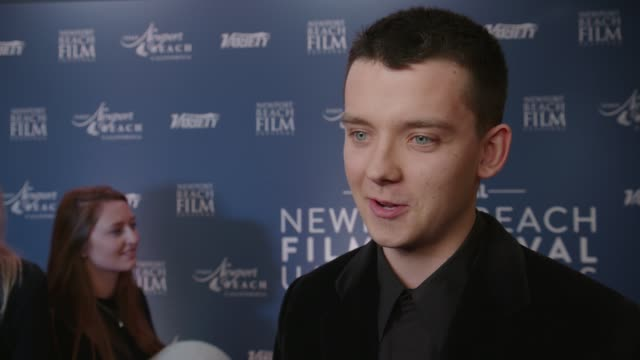 asa butterfield at the langham hotel on january 29, 2020 in london, england. - art and craft stock videos & royalty-free footage