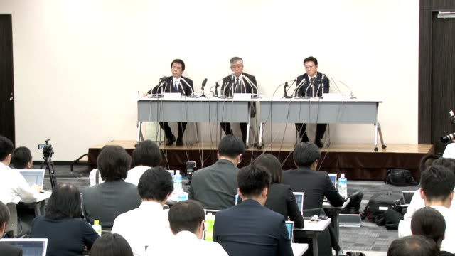 asahi kasei construction materials president tomihiro maeda offered an apology at a press conference in tokyo saying the company has caused great... - 和解点の映像素材/bロール