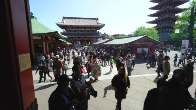 vídeos de stock, filmes e b-roll de asakusa kannon temple is an ancient buddhist temple located in asakusa tokyo japan it is tokyo's oldest temple and one of its most significant can be... - templo asakusa kannon