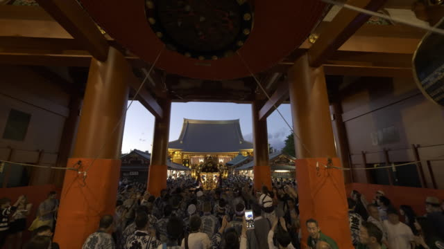 asakusa sanja festival at night - religion stock videos & royalty-free footage
