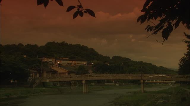 asano river in kanazawa at golden hour - kanazawa stock videos and b-roll footage