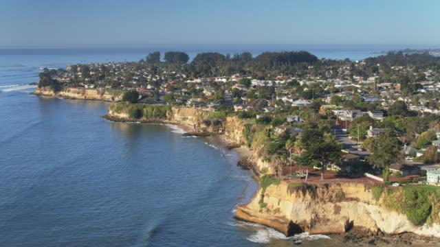 ascending drone shot of capitola, california - santa cruz county california stock videos & royalty-free footage
