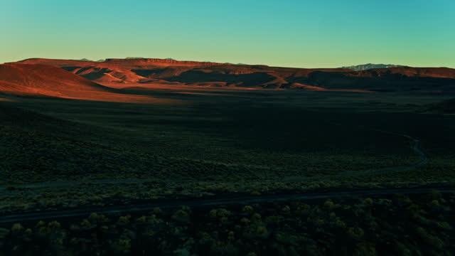 ascending drone shot of lunar crater national natural landmark - natural landmark stock videos & royalty-free footage