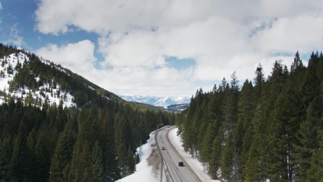 Aufsteigende Drohne Schuss von Teton Pass
