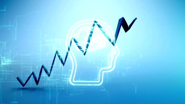 vidéos et rushes de tableau financier ascendant, stratégie de croissance du marketing des médias sociaux - engagement des clients