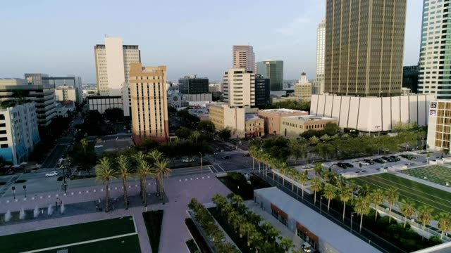 ascent through downtown tampa - tampa stock videos & royalty-free footage
