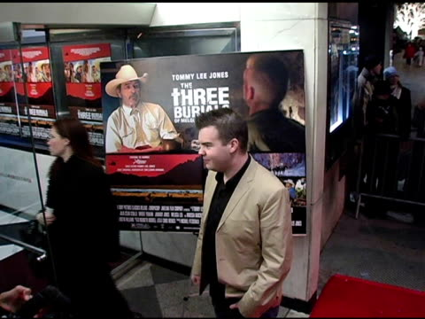 ash christian at the 'three burials of melquiades estrada' new york premiere at the paris theater in new york new york on december 12 2005 - the three burials of melquiades estrada stock videos and b-roll footage