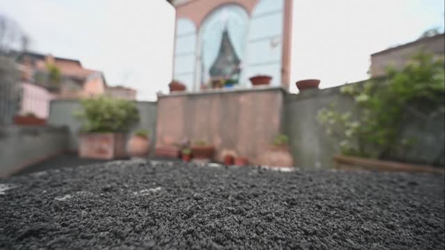 ash covers the streets of the town of milo at the foot of mount etna, which is continuing to spew smoke, ash and lapilli - sorghum stock videos & royalty-free footage