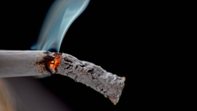 slo mo ld ash falling off a burning cigarette - tobacco product stock videos & royalty-free footage