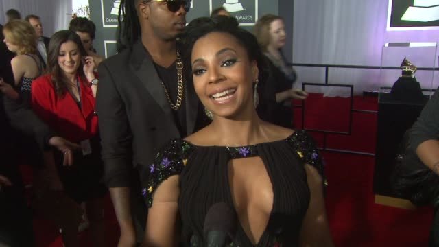 interview ashanti on preshow rituals and on being at the event at the 55th annual grammy awards arrivals interviews in los angeles ca on 2/10/13 - grammy awards stock videos and b-roll footage