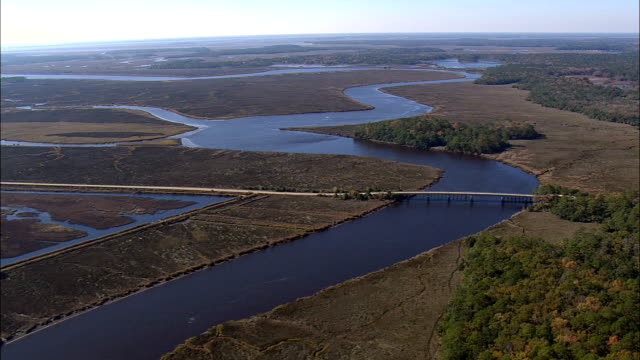Ashepoo River And Wetlands  - Aerial View - South Carolina,  Colleton County,  United States