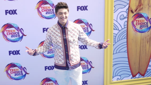 asher angel at the teen choice 2019 on august 11 2019 in hermosa beach california - annual teen choice awards stock videos & royalty-free footage
