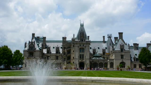 Asheville North Carolina historic Biltmore Estate home of Vanderbilt in 1895 largest private home in the USA