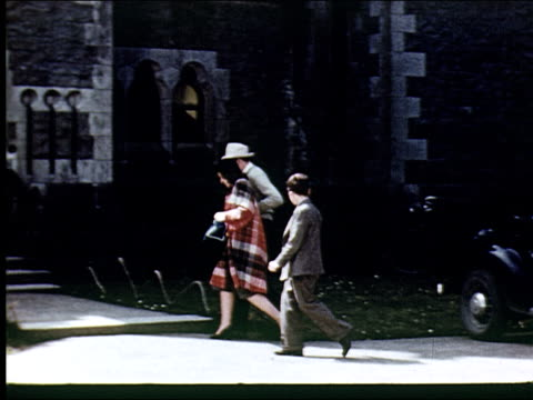 1947 ashford castle hotel and the irish countryside - weekend activities stock videos & royalty-free footage