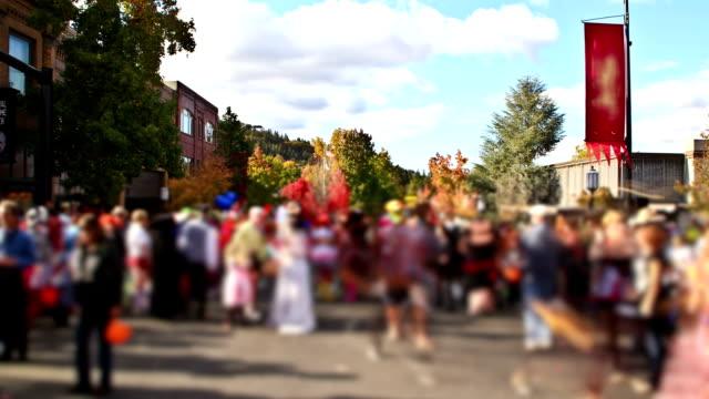 ashland holloween parade four - halloween stock videos & royalty-free footage