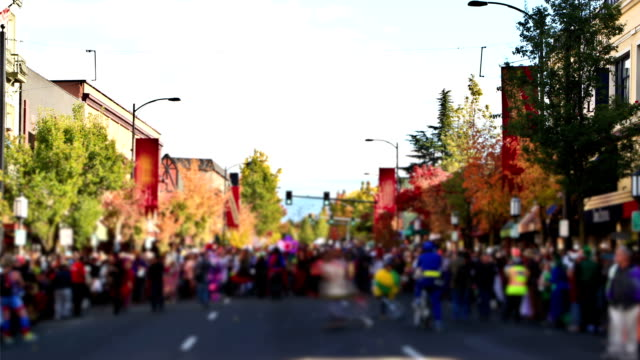 ashland holloween parade three - parade stock videos and b-roll footage