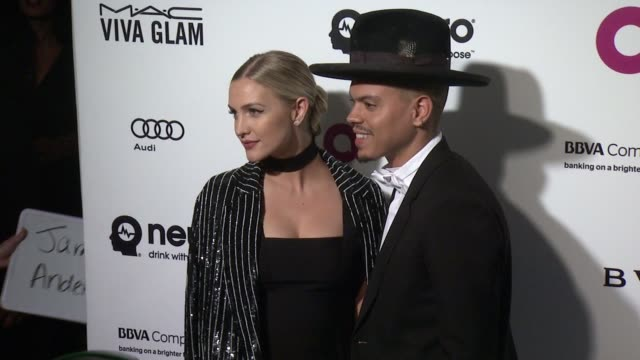 Ashlee Simpson and Evan Ross at Elton John AIDS Foundation Presents 24th Annual Academy Awards Viewing Party on February 28 2016 in West Hollywood...