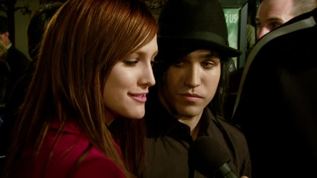 Ashlee Simpson and Pete Wentz at the 'Cloverfield' Premiere at the Paramount Theatre in Los Angeles California on January 16 2008