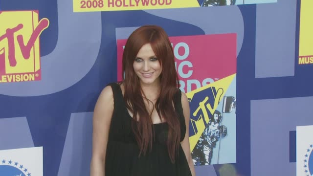 Ashlee Simpson at the 2008 MTV Video Music Awards at Los Angeles CA