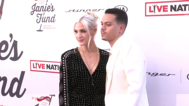 Ashlee Simpson Evan Ross at Steven Tyler and Live Nation presents Inaugural Janie's Fund Gala GRAMMY Viewing Party in Los Angeles CA